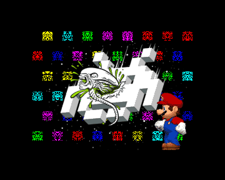 Space Invaders vs. Mario